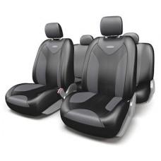 Комплект автомобильных чехлов черный/т.серый
